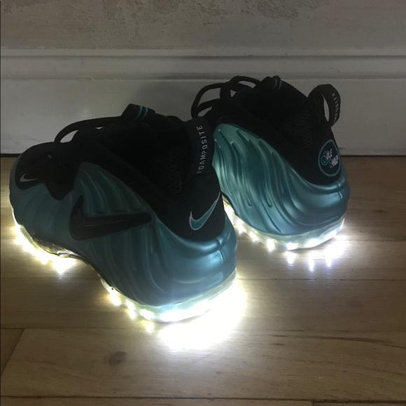 Nike Foamposite Pro Yeezy Black and Laser Crimson For Sale